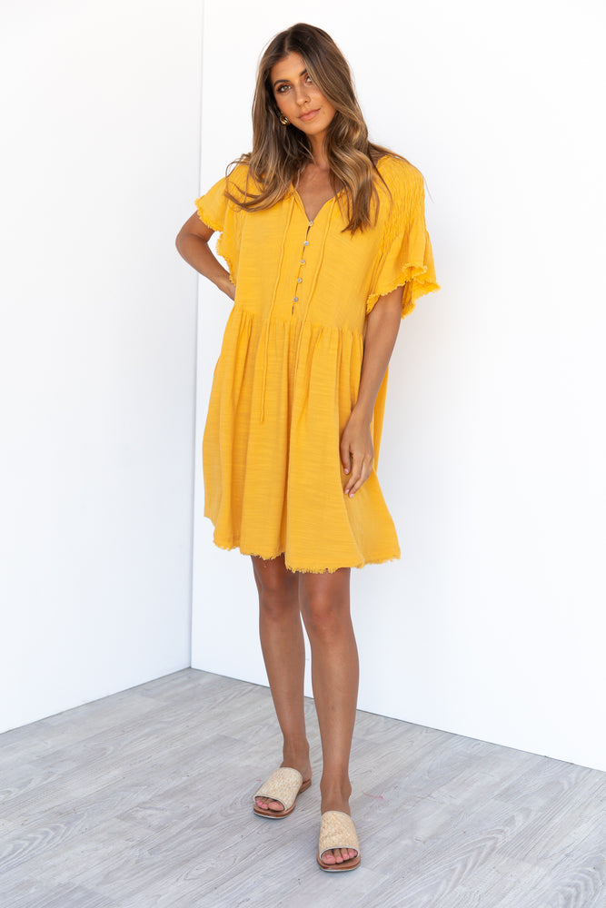 Byron Dress - Yellow