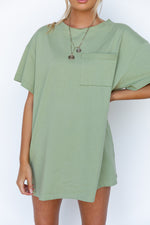 Marley Shirt Dress - Sage