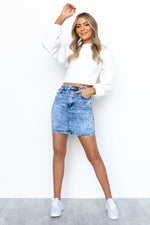 Kyla Denim Skirt - Acid Wash