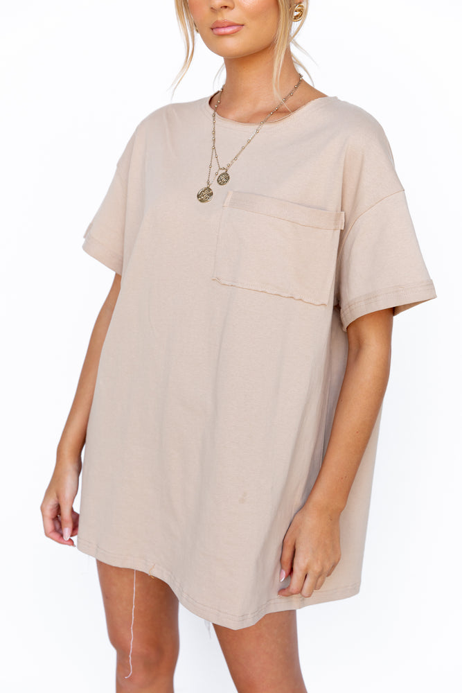 Marley Shirt Dress - Beige