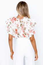 Sublime Top - Pink/White Floral