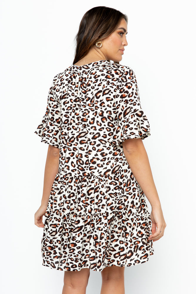 Wren Dress - Leopard