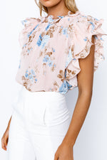 Sublime Top - Pink/Blue Floral