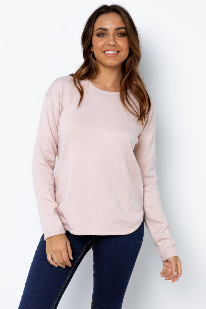 Amera Knit Top - Blush