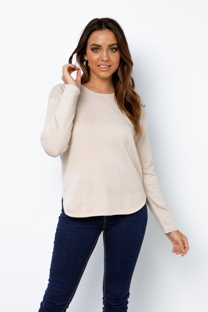 Amera Knit Top - Beige