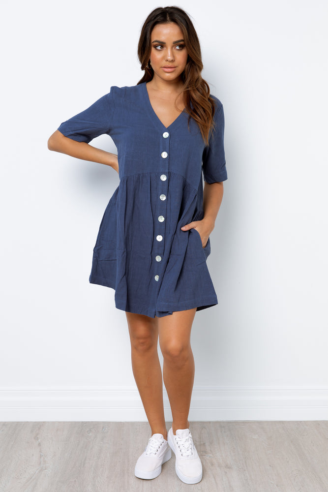 Nelly Dress - Navy