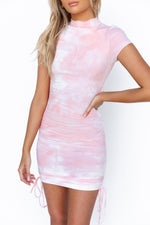 Harmony Dress - Pink/Tie Dye