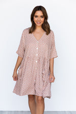 Neesh Dress - Blush/Spot