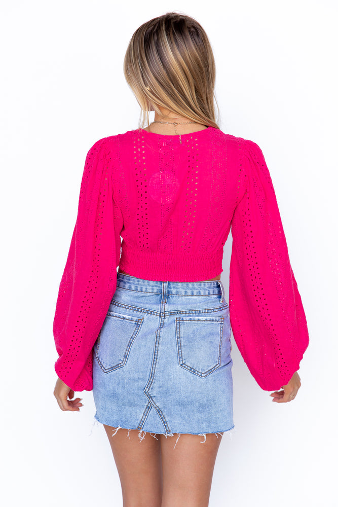 Hermosa Top - Hot Pink