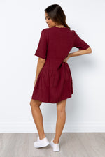 Nelly Dress - Wine