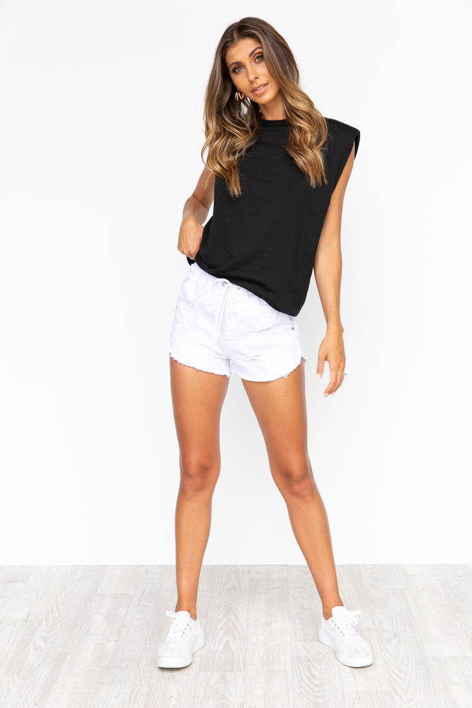 Kirra Denim Shorts - White