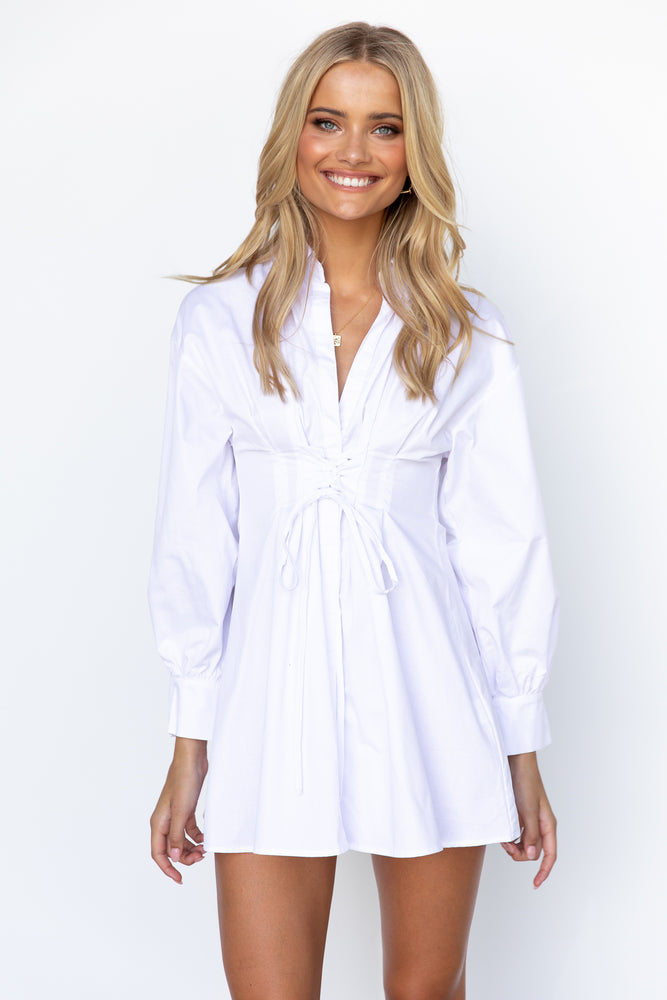 Beckham Shirt Dress - White
