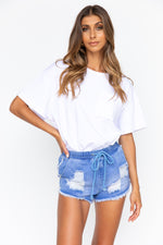 Kirra Denim Shorts - Medium Blue