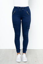 Remi Cargo Jeans - Navy