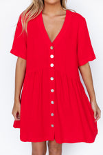 Nelly Dress - Red