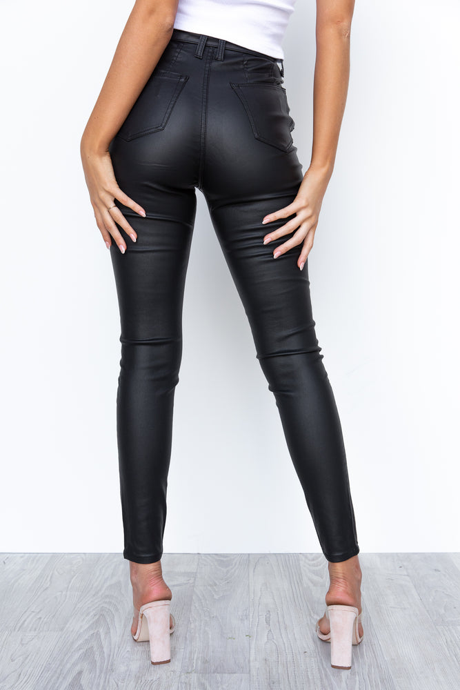 Cruz Jeans - Wet Look Black