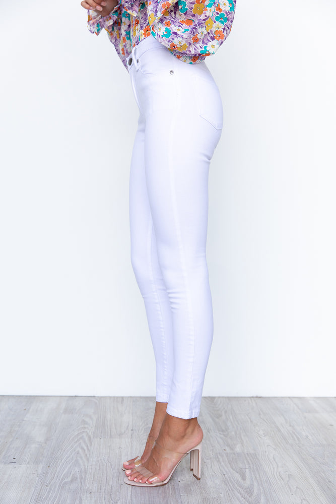 Mollie Skinny Jeans - White