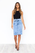 Cruz Midi Skirt - Acid Wash