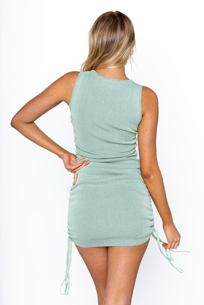 Military Minds Dress - Sage
