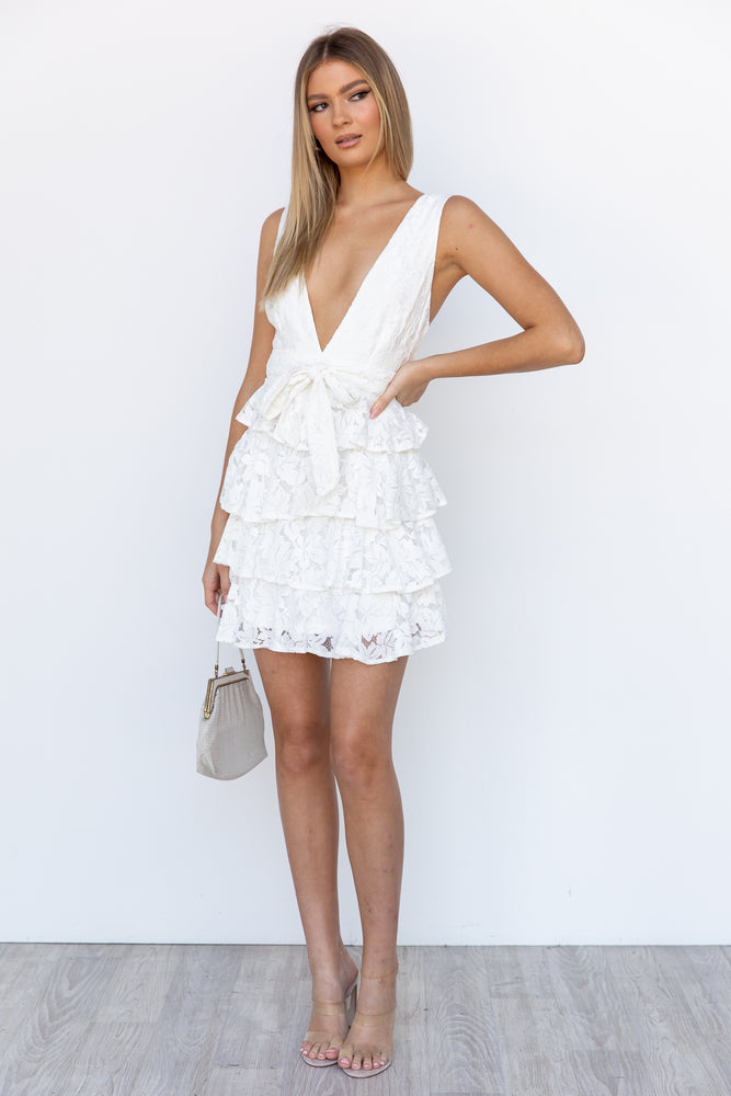 Illimunate Dress - White