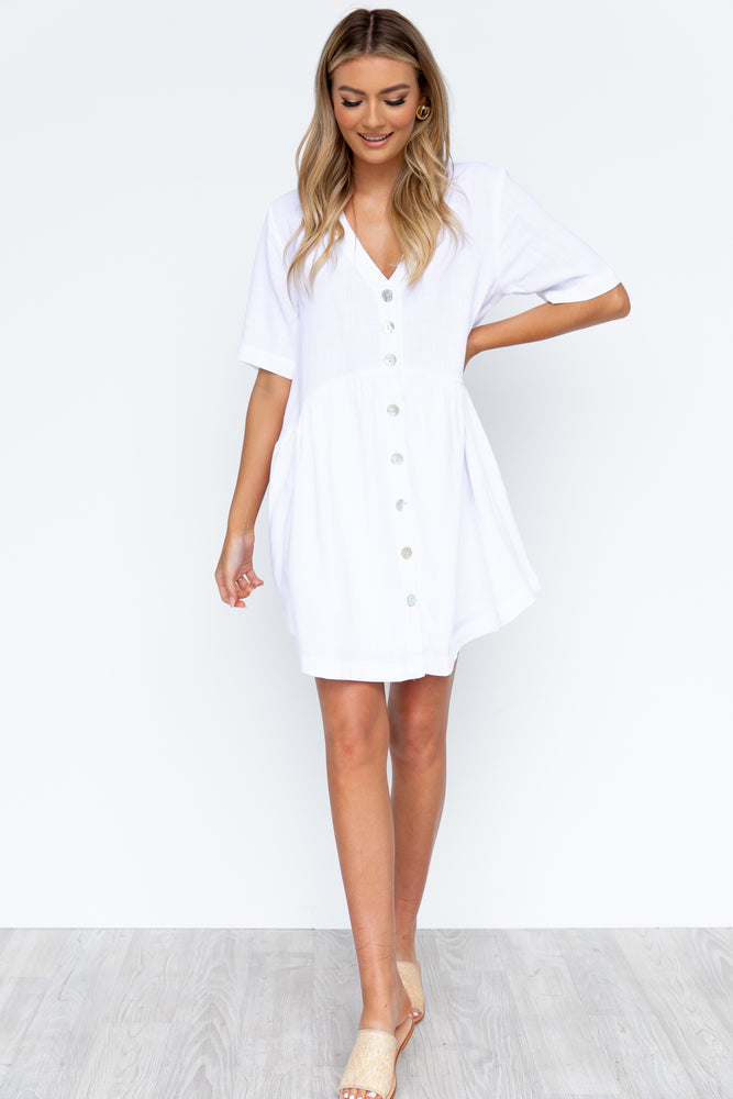 Nelly Dress - White