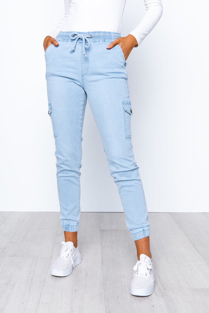 Remi Cargo Jeans - Light Denim