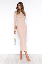 Khloe Dress - Beige