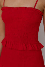 Zoey Dress - Red