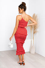 Amour Dress - Red/Floral