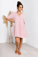 Nelly Dress - Blush