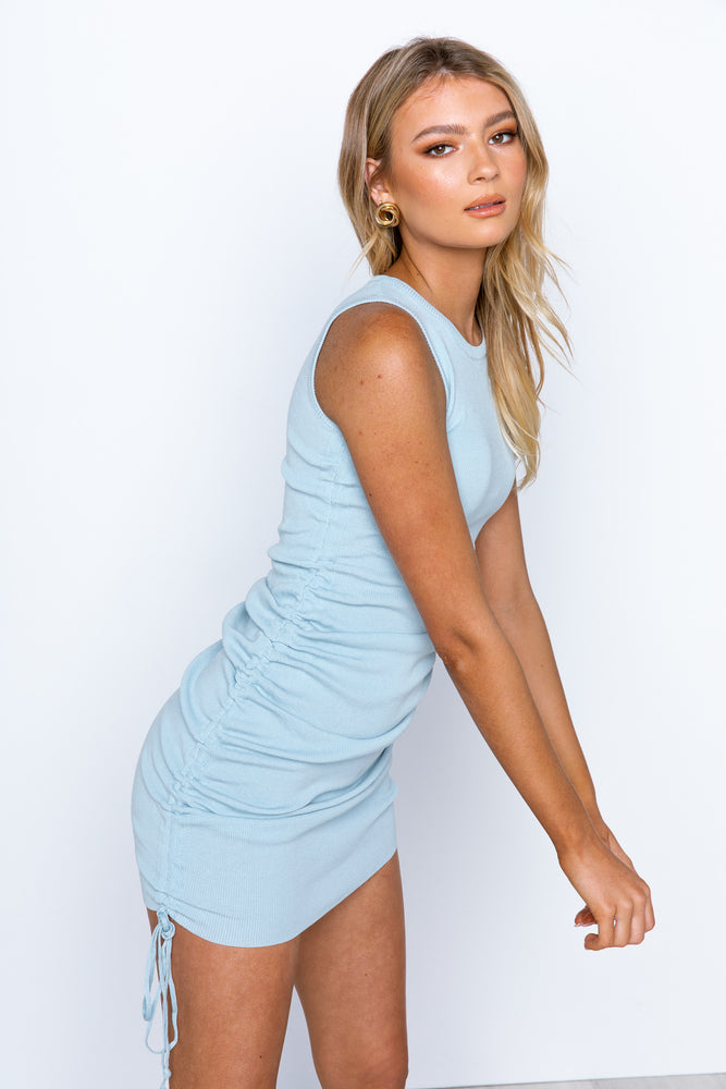Military Minds Dress - Baby Blue