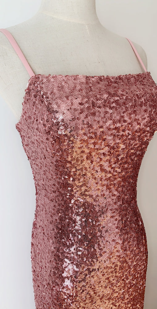 Pink Sequin Gown Sample XS/6