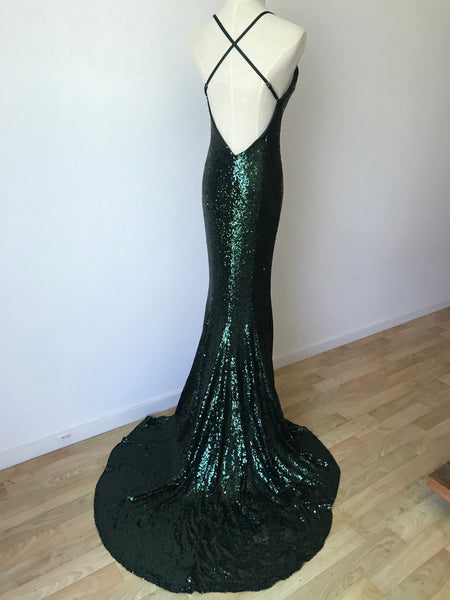 EMERALD MERMAID GOWN -Nouveau Riche Boutique