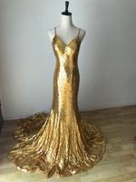 GOLD MERMAID SEQUIN GOWN XS - STYLE STRUCK