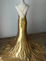 GOLD MERMAID SEQUIN GOWN XS -Nouveau Riche Boutique