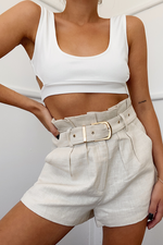 Belle Paperbag Shorts - Sand