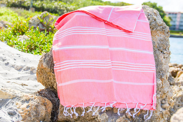 Coral Devocean Beach Towel
