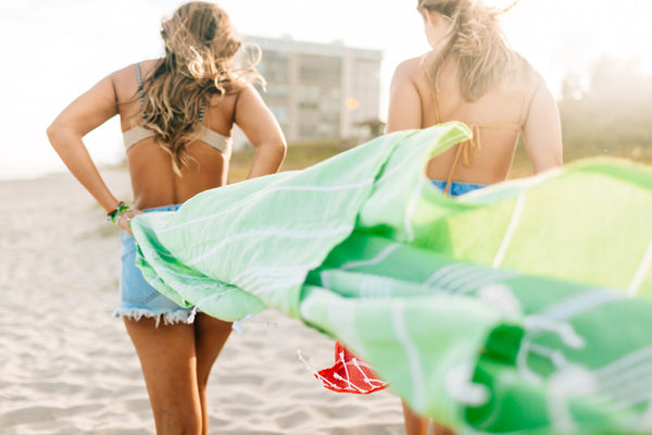 Lime Green Devocean Beach Towel