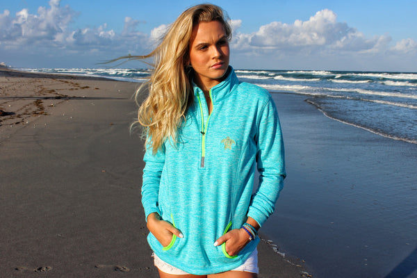 Electric Blue Zip Up