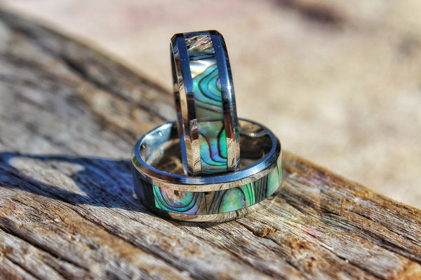Abalone Moon Ring