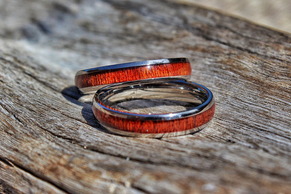 Thin Koa Wood Ring