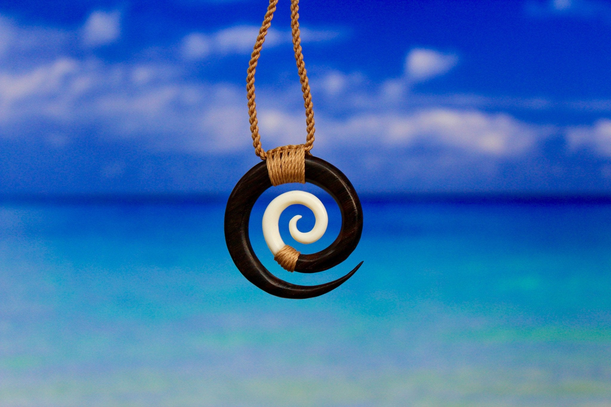 image koru large lge front of arrowtown product stone brown bound necklace work