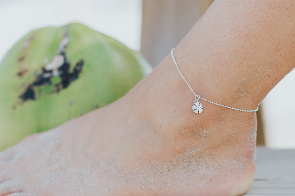 Small Sand Dollar Anklet