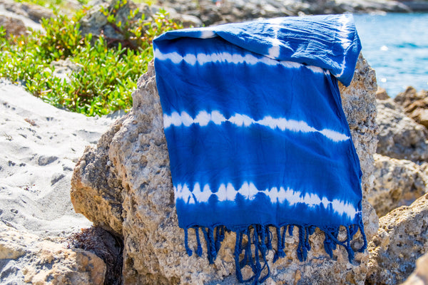 Navy Tie-Dye Beach Towel