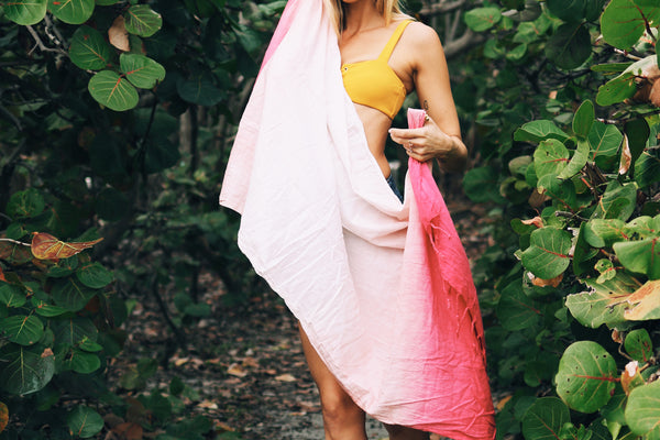 Tropical Flamingo Beach Blanket