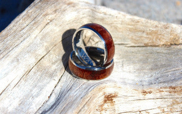 Mens Koa Wood Ring