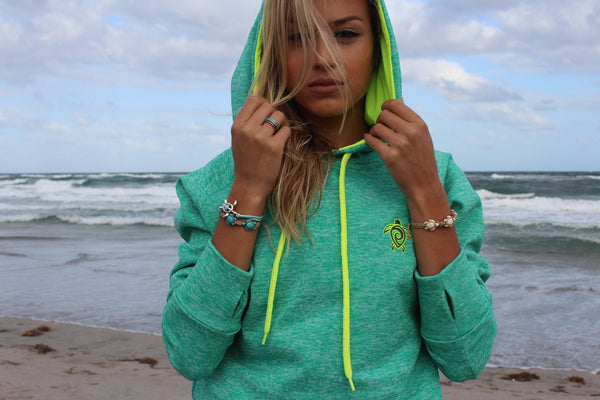 Electric Green Devocean Hoodie