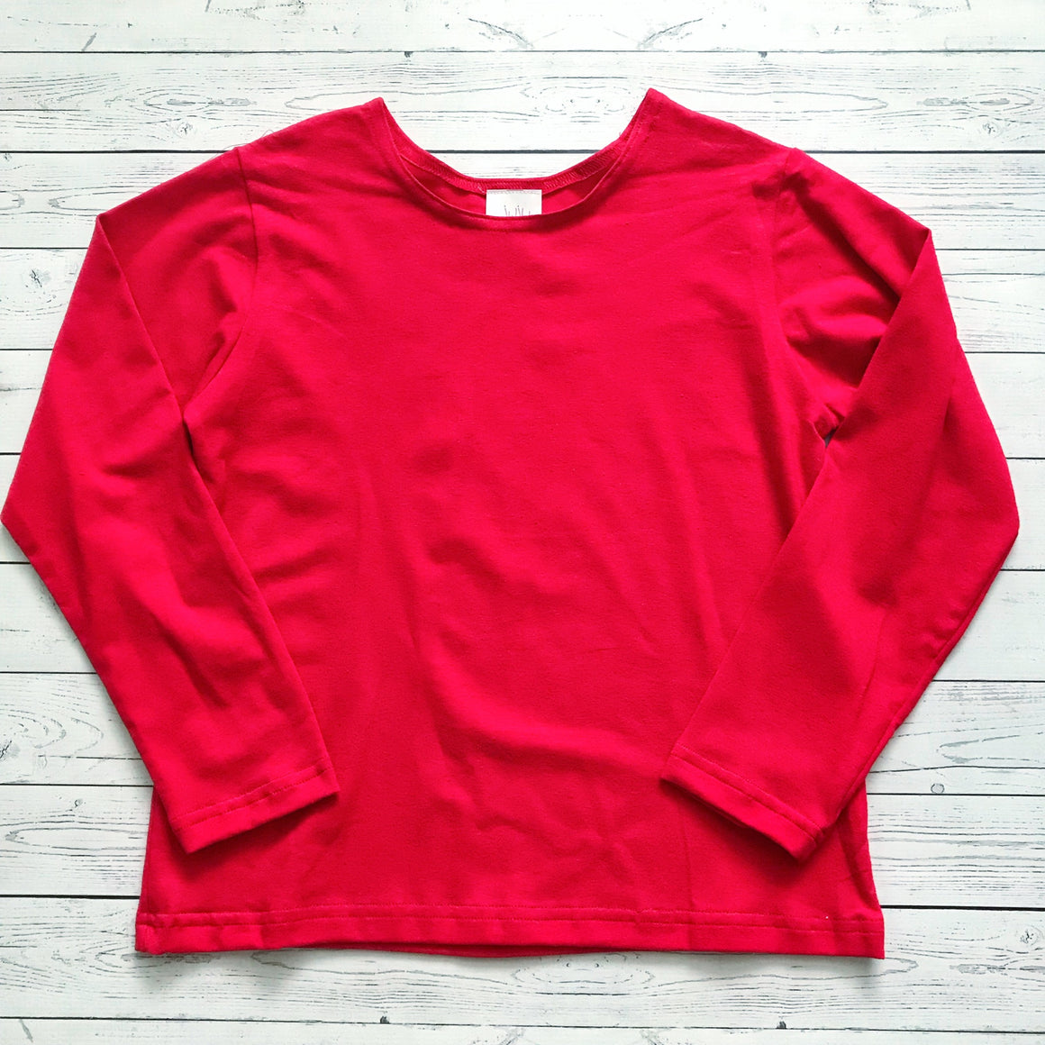 Juju & Jack Sleepware Red Long Sleeve Pajama Top