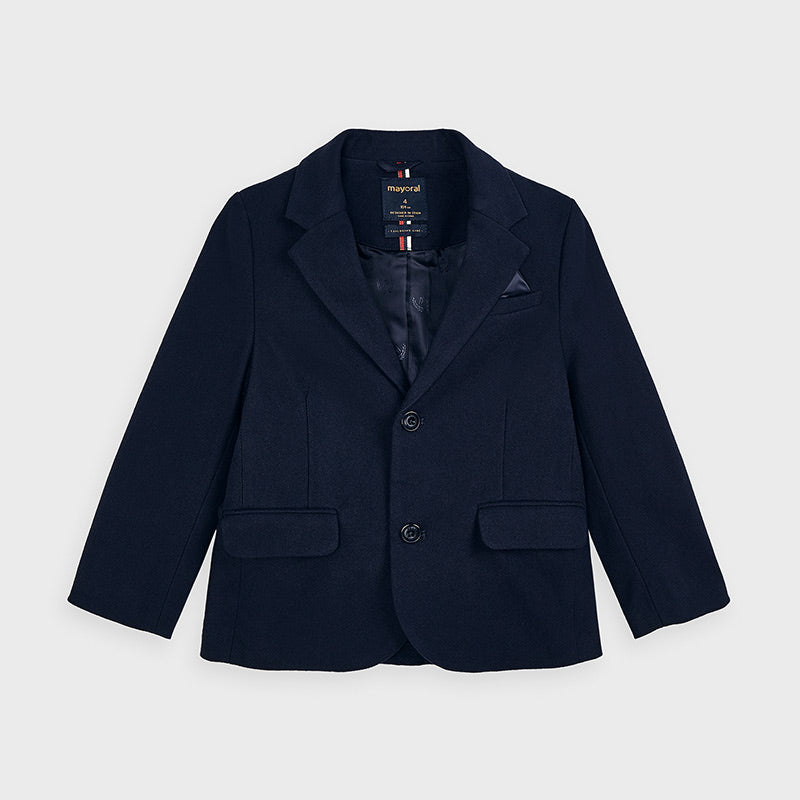 Mayoral | Navy Button Front Blazer