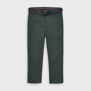 Mayoral | Long Chino Pant with Belt | Pine (NEW)